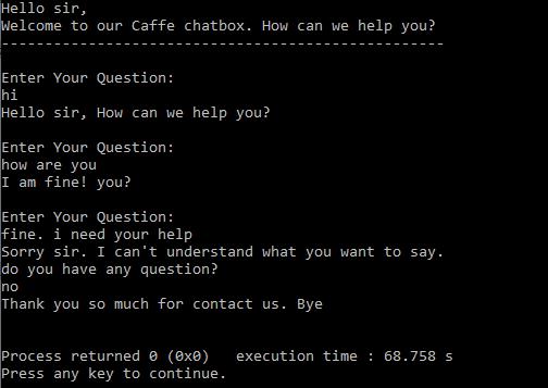 Create Chatbot in C Program